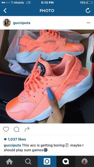 shoes nike orange huarache