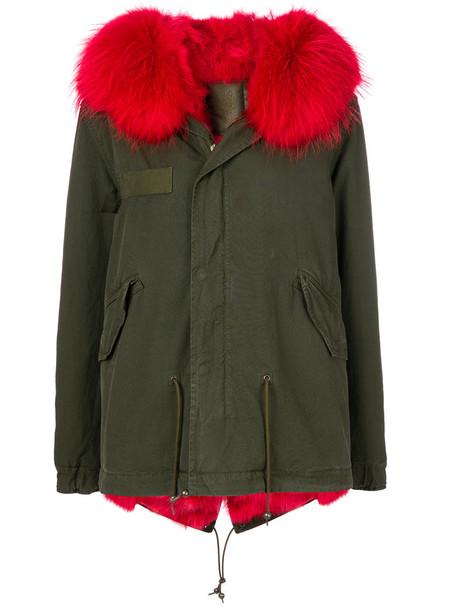 Mr & Mrs Italy parka fur fox women cotton green coat