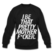 sweater,black,quote on it