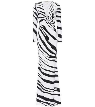 gown zebra dress