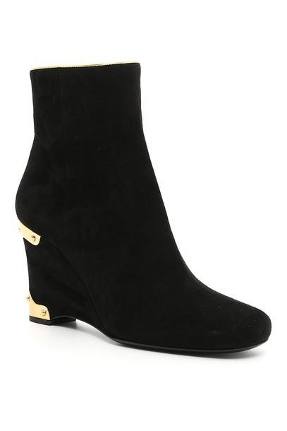 Prada suede booties booties suede shoes