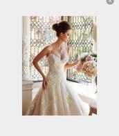 dress,wedding,wedding dress,lace wedding dress,beaded dress,long dress,princess dress,white,off-white,nude,blush,sparkle,straps,formal dress