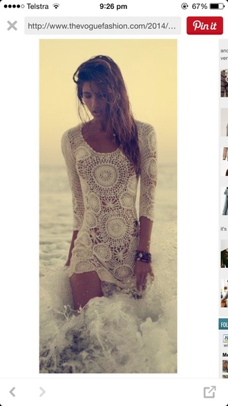 dress boho lovely white beach beach dress boho dress white dress crotchet dress