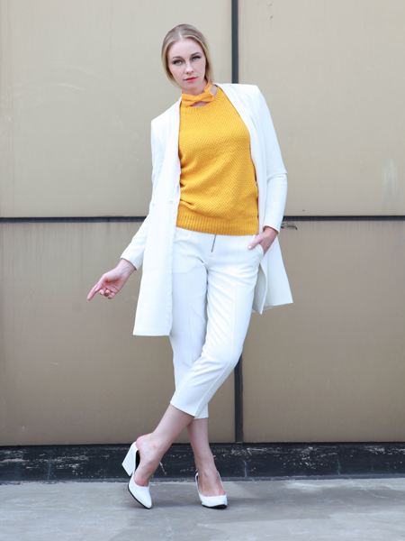 White Blazer In Longline | Choies