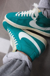 shoes,teal,nike,trainers,blue,green