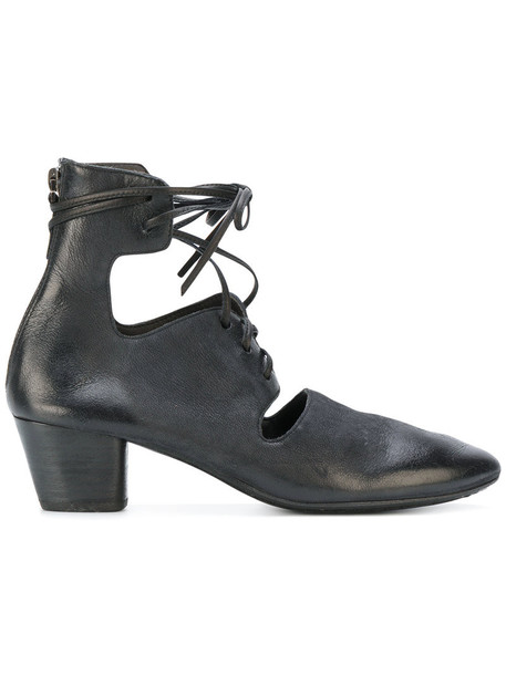 cut-out women boots ankle boots cut-out ankle boots leather black shoes