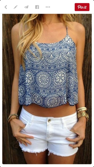 top blue and white