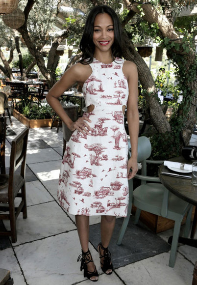 dress zoe saldana shoes