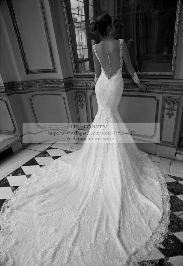 Dress backless wedding dress long sleeve wedding dress mermaid dress backless wedding dress long sleeve wedding dress mermaid wedding dress chapel train wedding dresses sexy wedding dresses arabic wedding dresses junglespirit Image collections
