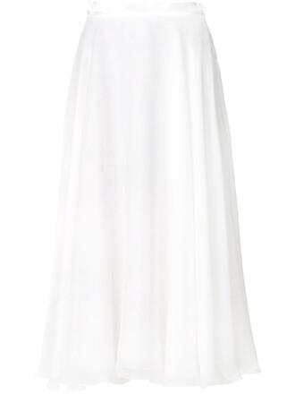 skirt women white silk satin