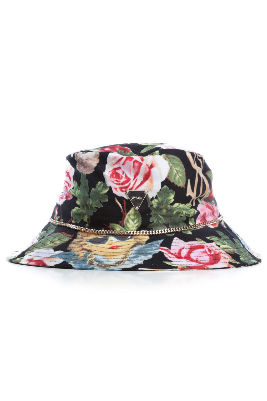 ANGELIC RICH FLORAL HAT / BLACK