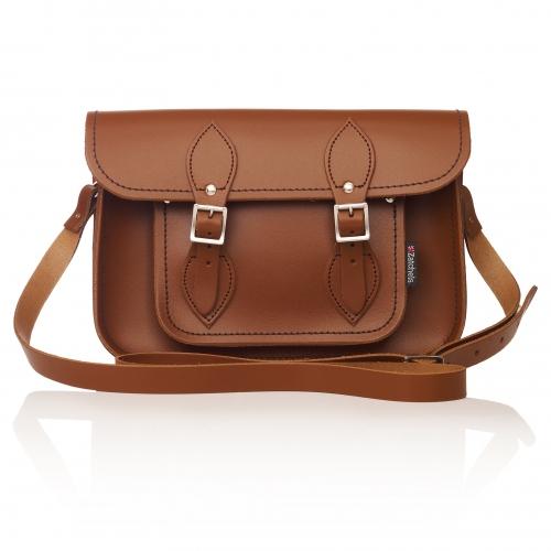 Zatchels Chestnut Leather Satchel Bag | Zatchels | Unique Homeware | Unusual, Modern, Contemporary, Vintage Homewares  | Accessories | Oliver Bonas