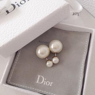 jewels jewelry pearl earrings double sided earrings double ball earrings pearl earrings