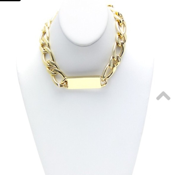 jewels thick chain necklace gold haute & rebellious