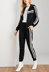 jumpsuit,girl,girly,girly wishlist,two-piece,matching set,joggers,joggers pants,jacket,zip,track pants,tracksuit