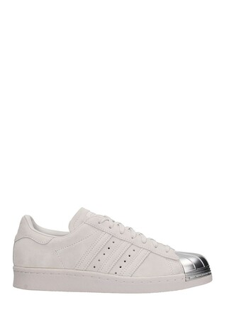 sneakers leather white grey shoes