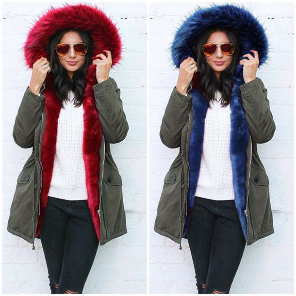 Red green parka