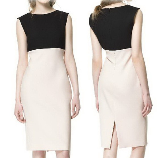 colorblock dress dress color block pencil dress zara zara dress colorblock color block dress girly Girly chic