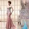 Buy sexy mermaid crystals long party gowns sweetheart neckline strapless natural waist trumpet zipper sweep length graceful evening dress sd086, $140.16