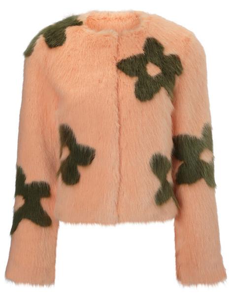 Shrimps jacket fur faux fur peach