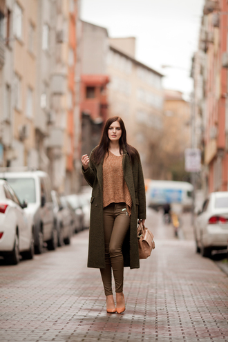 the bow-tie blogger coat pants sweater shoes bag