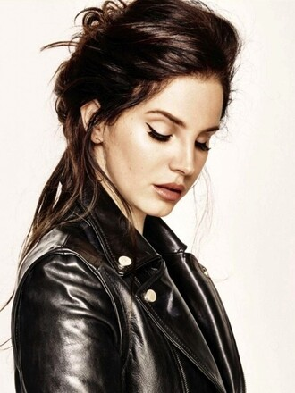 lana del rey leather jacket jacket blouse