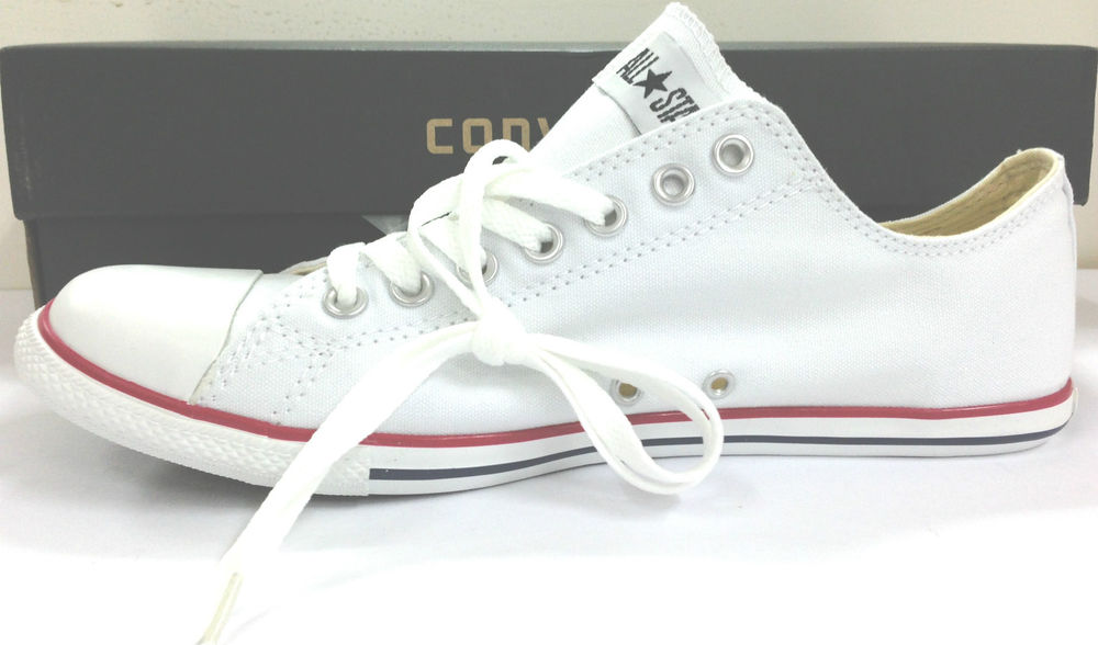 New Converse All Star Chuck Taylor Classic White Low Slim Cut Men Shoes US9 5 11 | eBay