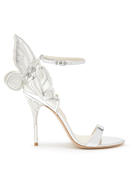 Sophia Webster butterfly sandals leather sandals leather silver shoes