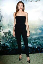 pants,angelina jolie,all black everything