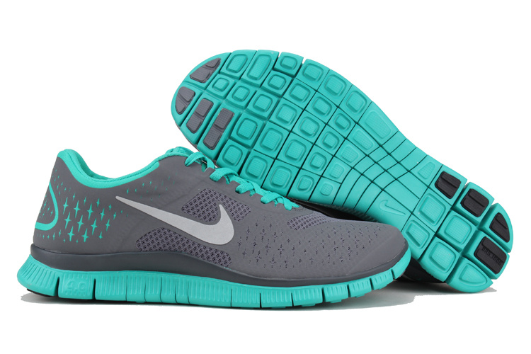 nike free 4 0 v2 womens running shoes grey blue silver. Black Bedroom Furniture Sets. Home Design Ideas