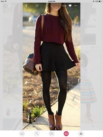 shirt burgundy sweater cropped sweater