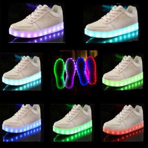 Unisex Led Light Lace Up Luminous Shoes Sportswear Sneaker