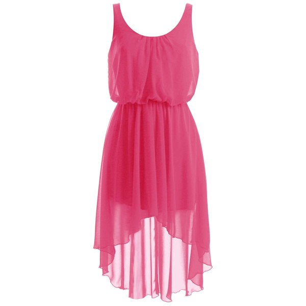 LOVE Lipstick Chiffon Asymmetrical Midi Dress - Polyvore