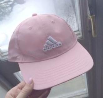 hat adidas pink aesthetic tumblr grunge