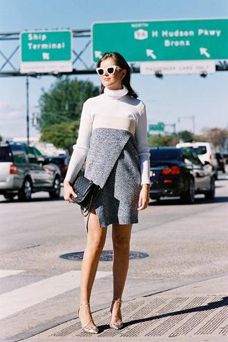 vanessa jackman blogger dress sweater