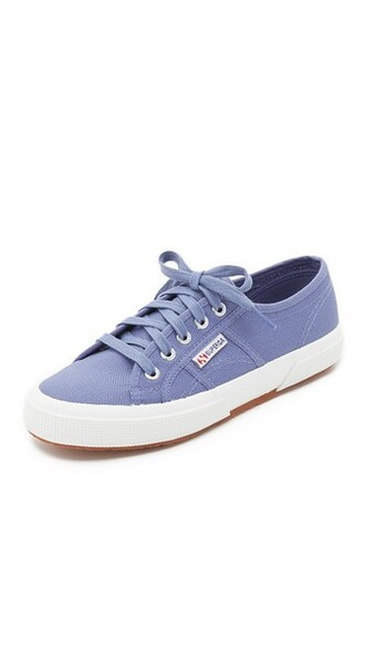 classic sneakers blue velvet shoes