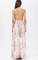 Neck spaghetti straps backless maxi dress