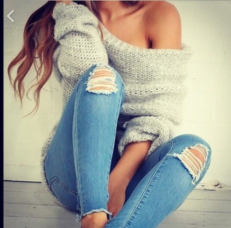 sweater fashion fall outfits jeans