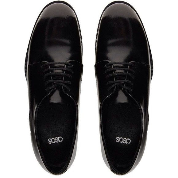 shoes oxfords asos black black oxfords elegant shoes black grunge flat