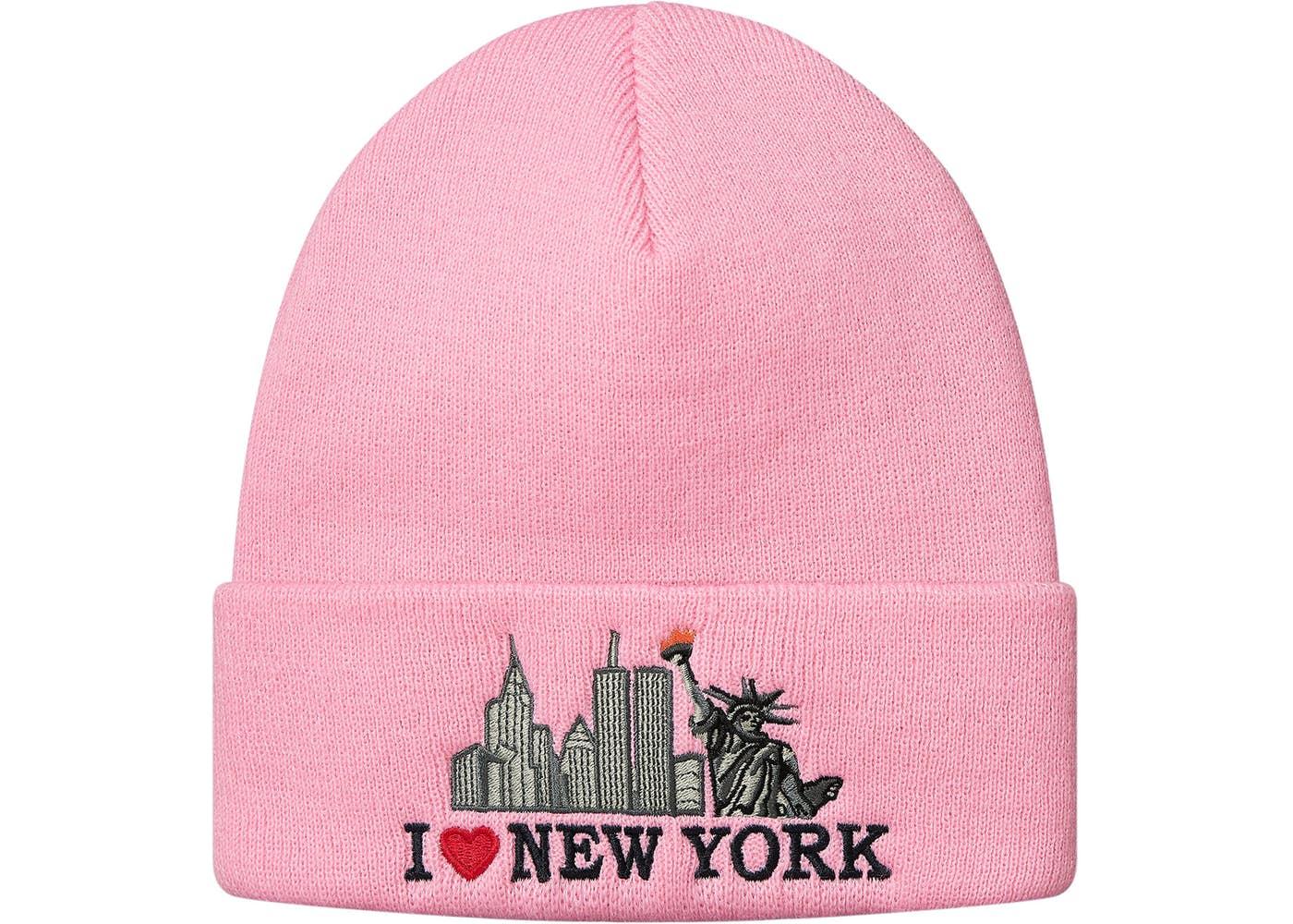 Supreme I Love NY Beanie Pink
