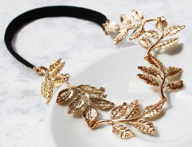 New Fashion Gold Leaf Hairbands Victoria Style-in Hair Jewelry from Jewelry on Aliexpress.com