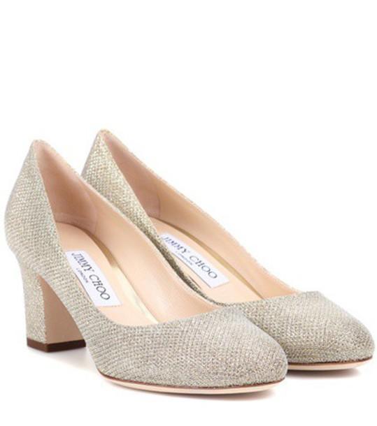 metallic pumps shoes
