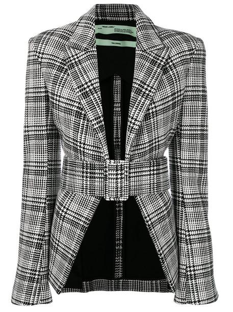 Off-White jacket women cotton black houndstooth