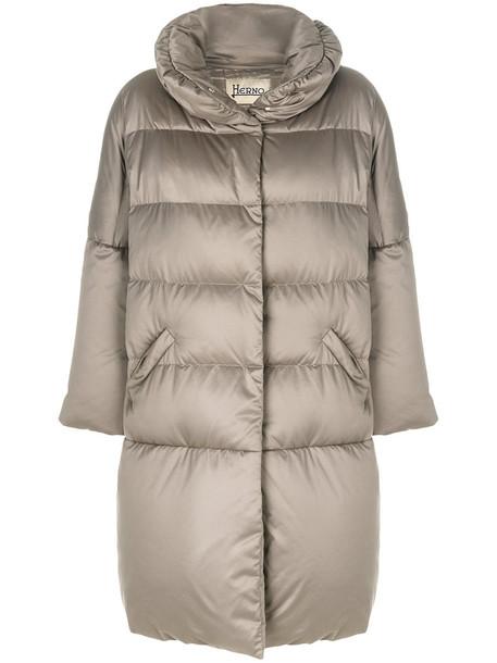 Herno coat zip women grey