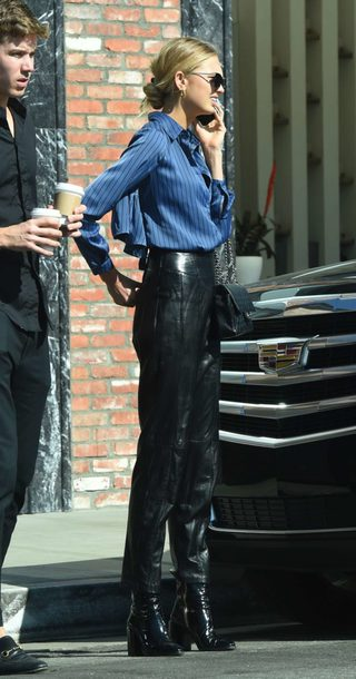 shoes pants blouse romee strijd model off-duty streetstyle fall outfits
