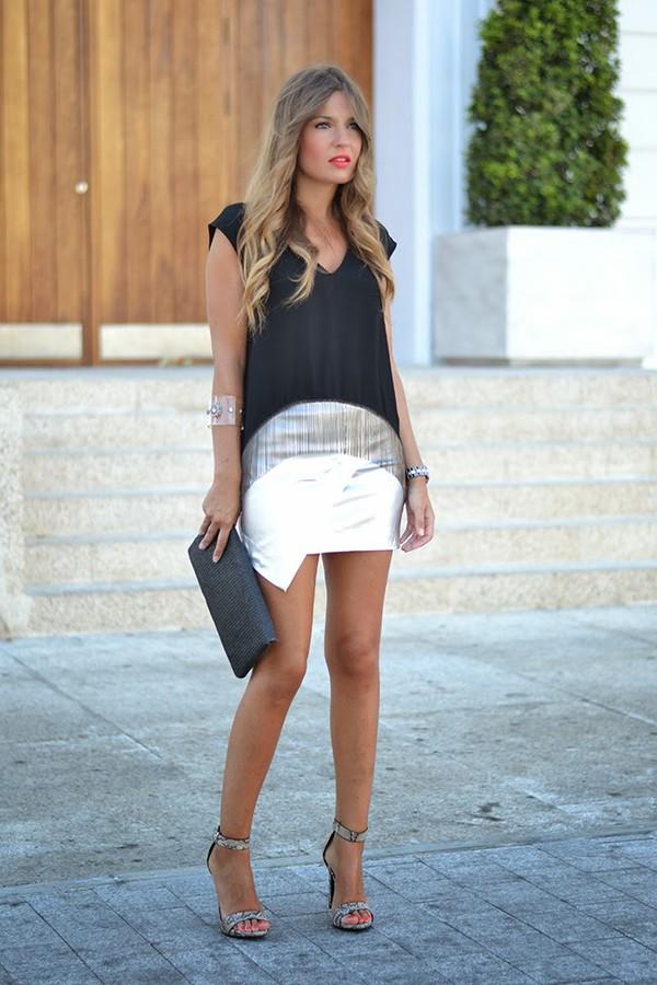 mi aventura con la moda top skirt shoes bag jewels