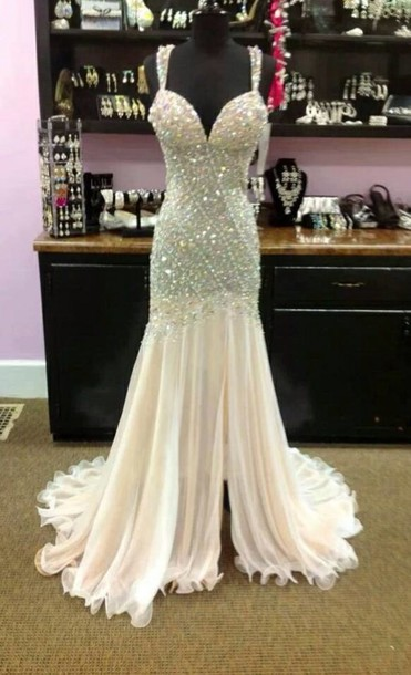 dress, jovani prom dress, glitter dress, white, prom dress, sherri ...