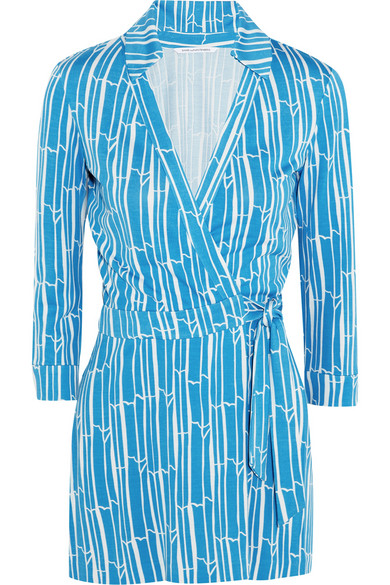 Diane von Furstenberg | Celeste printed silk-jersey wrap playsuit | NET-A-PORTER.COM