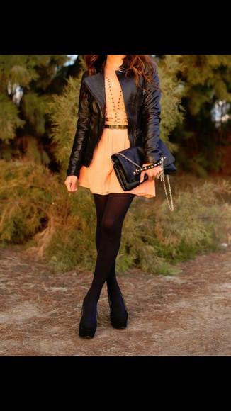 peach dress orange dress cute dress