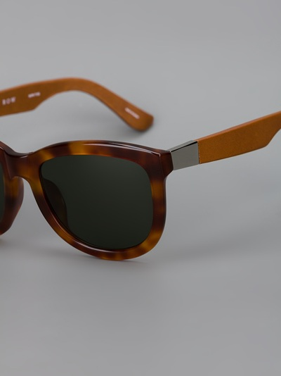 Linda Farrow By The Row Wayfarer Sunglasses Feathers